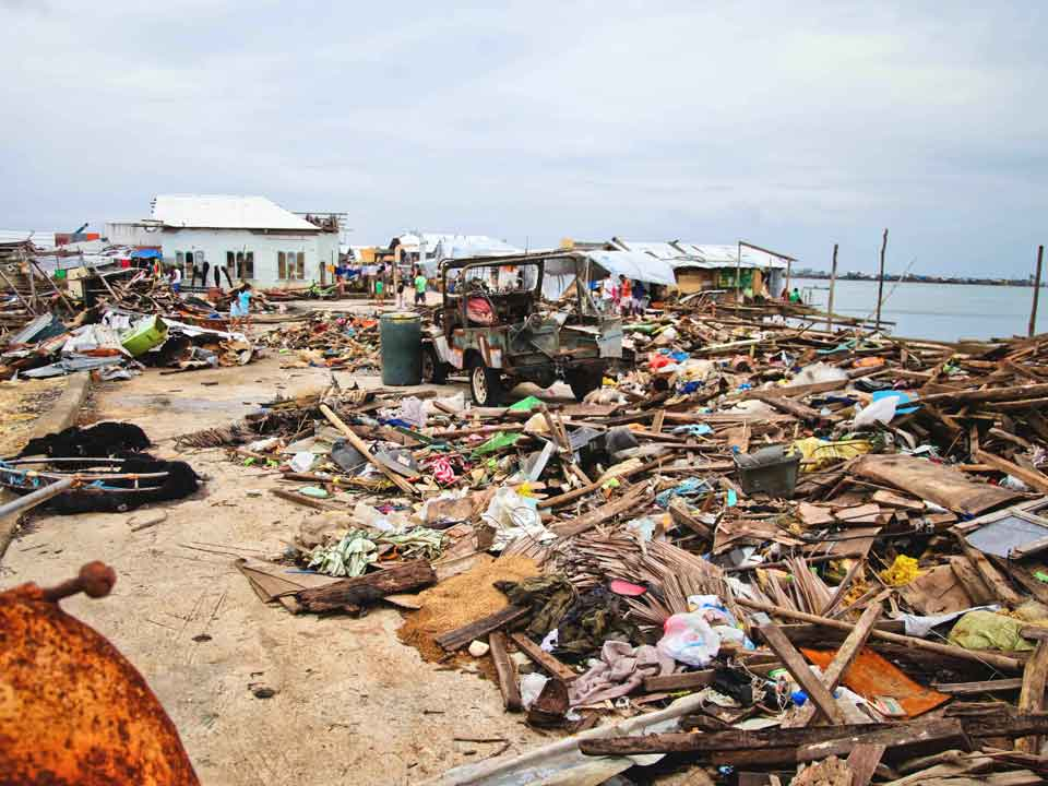 Philippines Typhoon Destruction Small