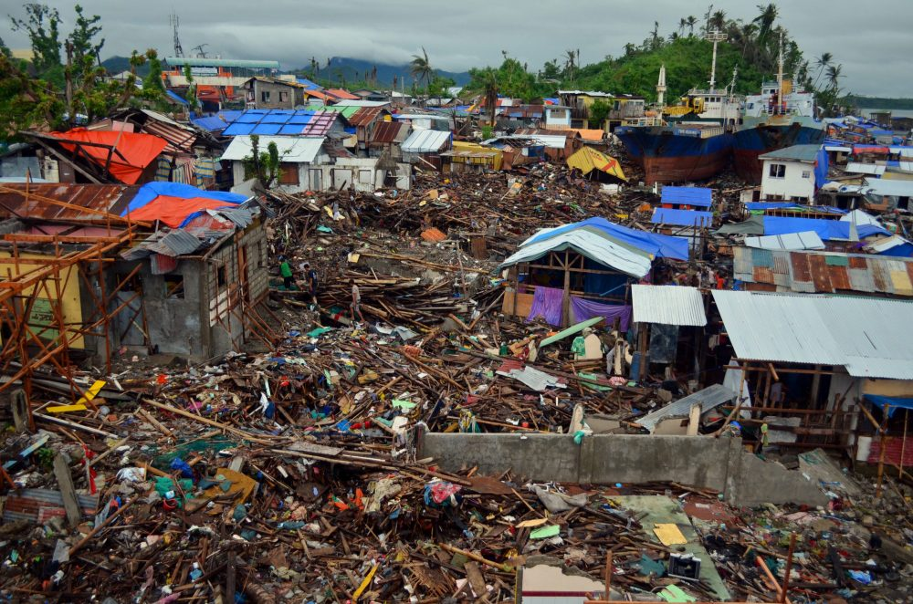 A Sweeping Shot Of Barangay Anibong, Taken In The Philippine City Of Tacloban After Typhoon Haiyan Struck In November 2013.