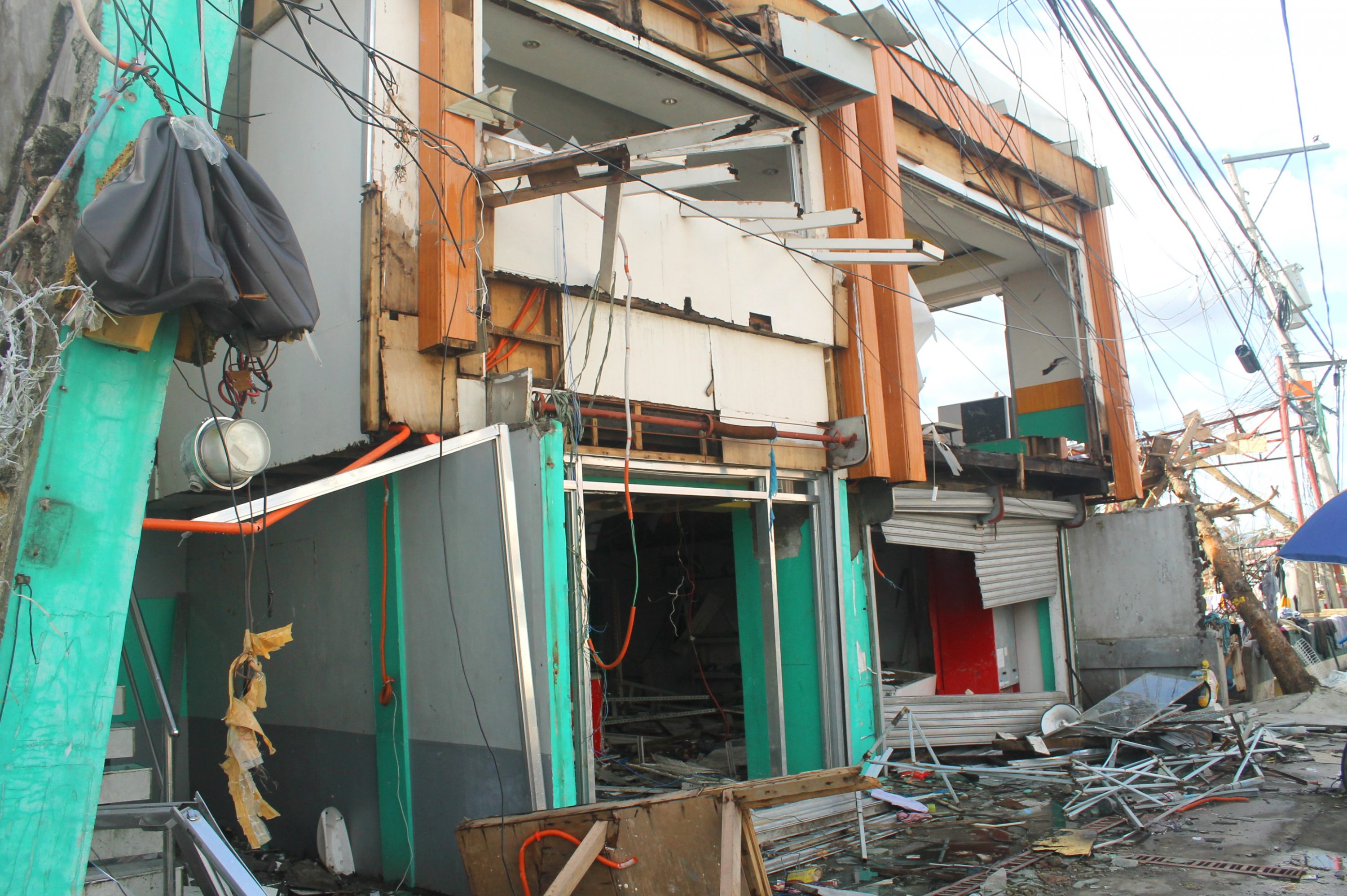 Photograph Image Of A Shop Flooded During The Supertyphoon Haiyan (Yolanda) In Tacloban City, Philippines.