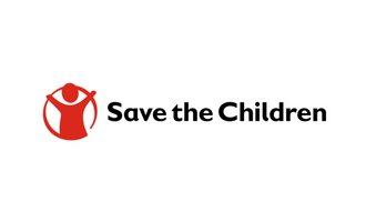 Save the children logo white background