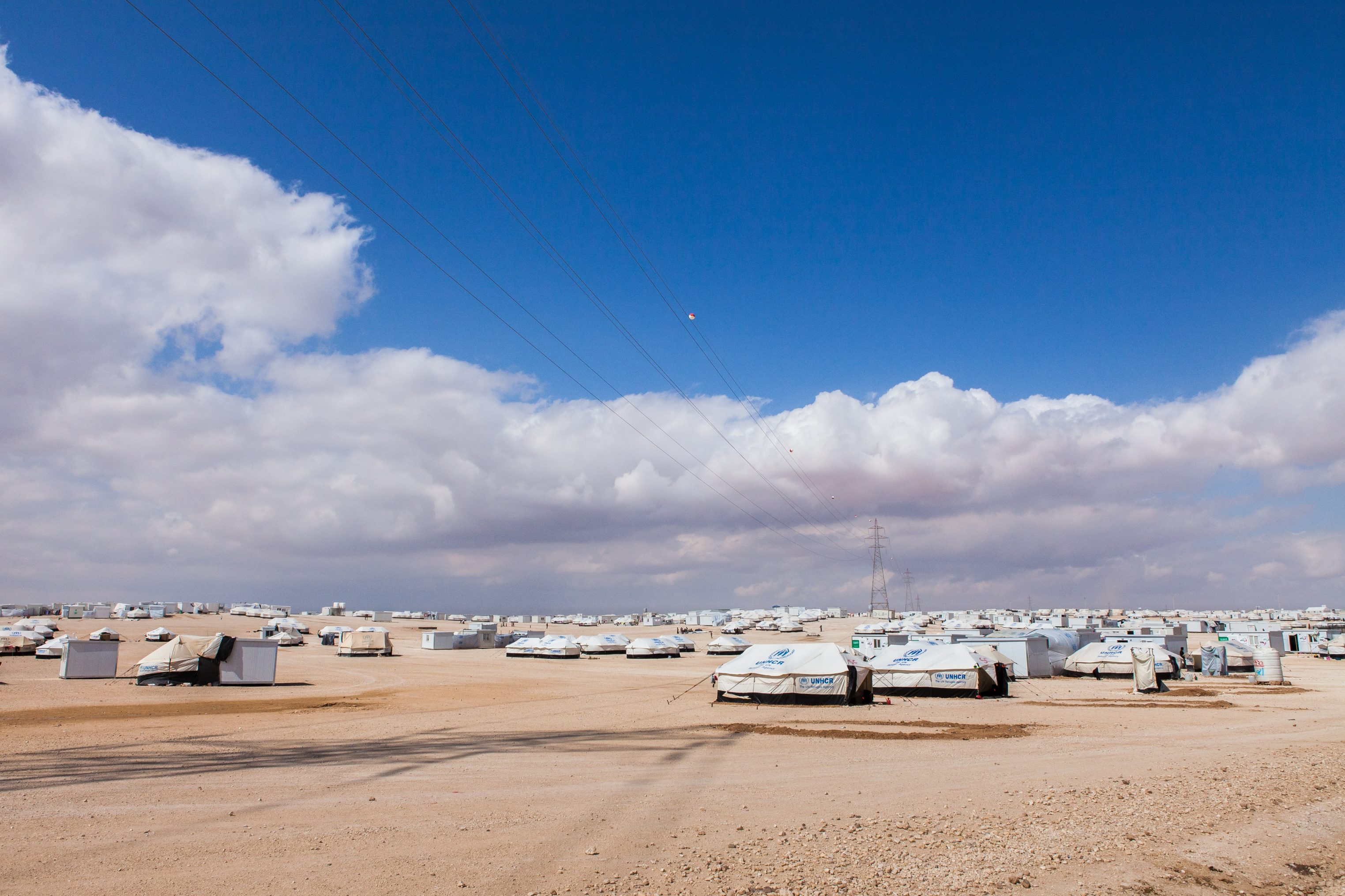 View Of Zaatari Syrian Refugee Camp In The Late Morning, Jordan.
